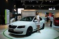 Brno czech republic april skoda octavia rd generation on display at the th edition of international autosalon brno on april in Royalty Free Stock Photography