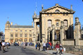Broad street oxford with clarendon building view east along in from outside blackwells bookshop and near to the sheldonian theatre Royalty Free Stock Photos