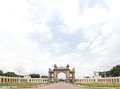 A broad view of the main gate of Mysore palace from East Royalty Free Stock Photos