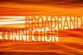 Broadband Connection- Technology background Royalty Free Stock Photo
