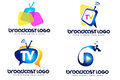 Broadcast logo an illustration representing a company or a tv post Stock Photography