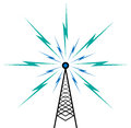Broadcast tower vector illustration of on white Royalty Free Stock Image