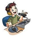 Broadcaster illustrator design eps Royalty Free Stock Photos