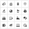 Broadcasting and journalism icons vector file format is eps Stock Images