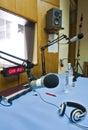 Broadcasting studio Royalty Free Stock Photo