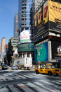 Broadway and 42nd Street Intersection Royalty Free Stock Images