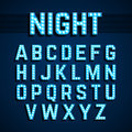 Broadway lights style light bulb alphabet, night show Royalty Free Stock Photo