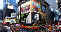 Broadway show advertisements Royalty Free Stock Photo