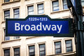 Broadway Street Sign in Manhattan, New York City Royalty Free Stock Photo