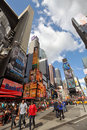 Broadway and Times Square, New York City Stock Image