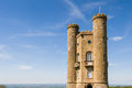 Broadway tower located on hill in the cotswolds england Stock Photo
