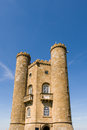 Broadway tower located on hill in the cotswolds england Stock Photos