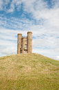 The broadway tower near in cotswolds in worcestershire in england Royalty Free Stock Photo