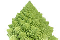 Broccoflower - green cauliflower isolate on white
