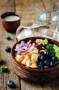 Broccoli blueberry apple salad with greek yogurt poppy seeds dre