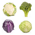 Broccoli,cabbage,cauliflower. Stock Image