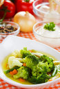 Broccoli and cauliflower soup Royalty Free Stock Photo