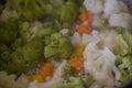 Broccoli cauliflower soup Royalty Free Stock Photo
