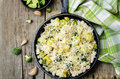 Broccoli cheese chicken rice Royalty Free Stock Photo