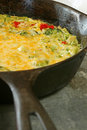 Broccoli Cheese Egg Frittata Stock Photography