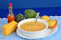 Broccoli and Cheese Soup Royalty Free Stock Photo
