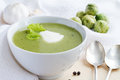 Broccoli cream soup green fresh Royalty Free Stock Photography