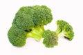 Broccoli florets on white Royalty Free Stock Photo