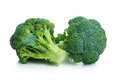 Broccoli fresh cabbage isolated on white background Stock Images