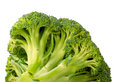 Broccoli fresh green isolated over white fresh vegetables Stock Photos