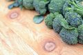 Broccoli green organic formed for frame focus on closest Royalty Free Stock Photo