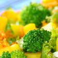 Broccoli on Salad Royalty Free Stock Photo