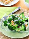 Broccoli salad with yogurt dressing Royalty Free Stock Photo