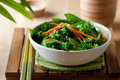 Broccoli stir fry closeup of healthy vegetarian Royalty Free Stock Image