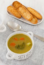 Broccoli vegetable soup Stock Photography
