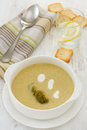 Broccoli vegetable soup Stock Photo
