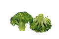 Broccoli, white background, isolate Stock Photo