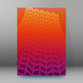 Brochure cover template vertical format glowing background37