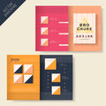Brochure design with dot element vector geometry Royalty Free Stock Photos
