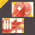 Brochure design with flat projection vector geometry Royalty Free Stock Photos