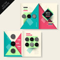 Brochure design with stripe and triangle vector geometry Royalty Free Stock Photos
