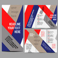 Brochure design template vector trifold geometric abstract Royalty Free Stock Photos