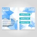 Brochure flier design template. Vector concert poster illustration. Royalty Free Stock Photo