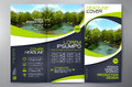 Brochure 3 fold flyer design a4 template.
