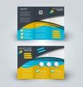 Brochure mock up design template for business, education, advertisement.