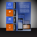 Brochure presentation template with electronic elements design for print or publishing Stock Images