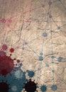 Brochure, report or flyer design template. Virus diseases relative