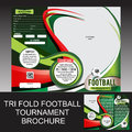 Brochure triple de tournoi du football Image stock