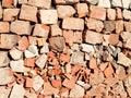Brocken brick texture Royalty Free Stock Image