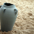 The broken amphora Stock Image