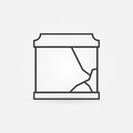 Broken aquarium icon